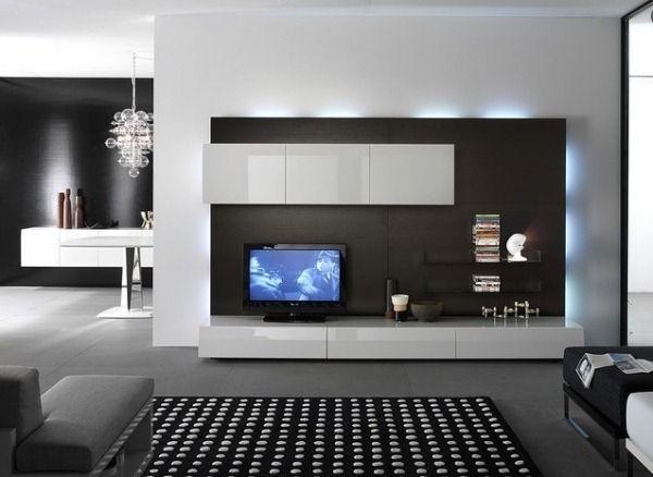living wall design led lighting living room modern ...