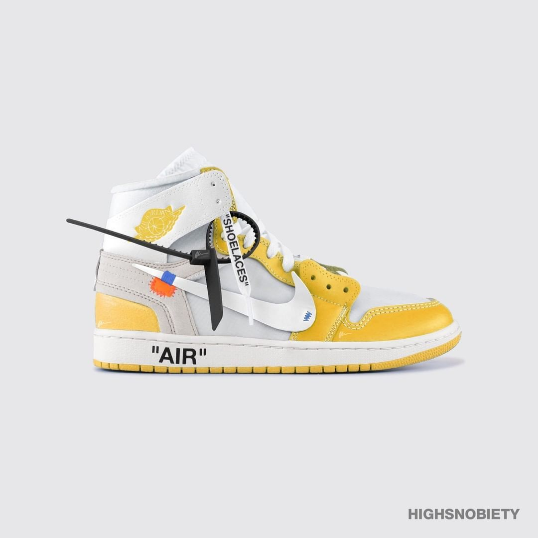 Virgilabloh Unveiled A Yellow Sample Of The Off White Air