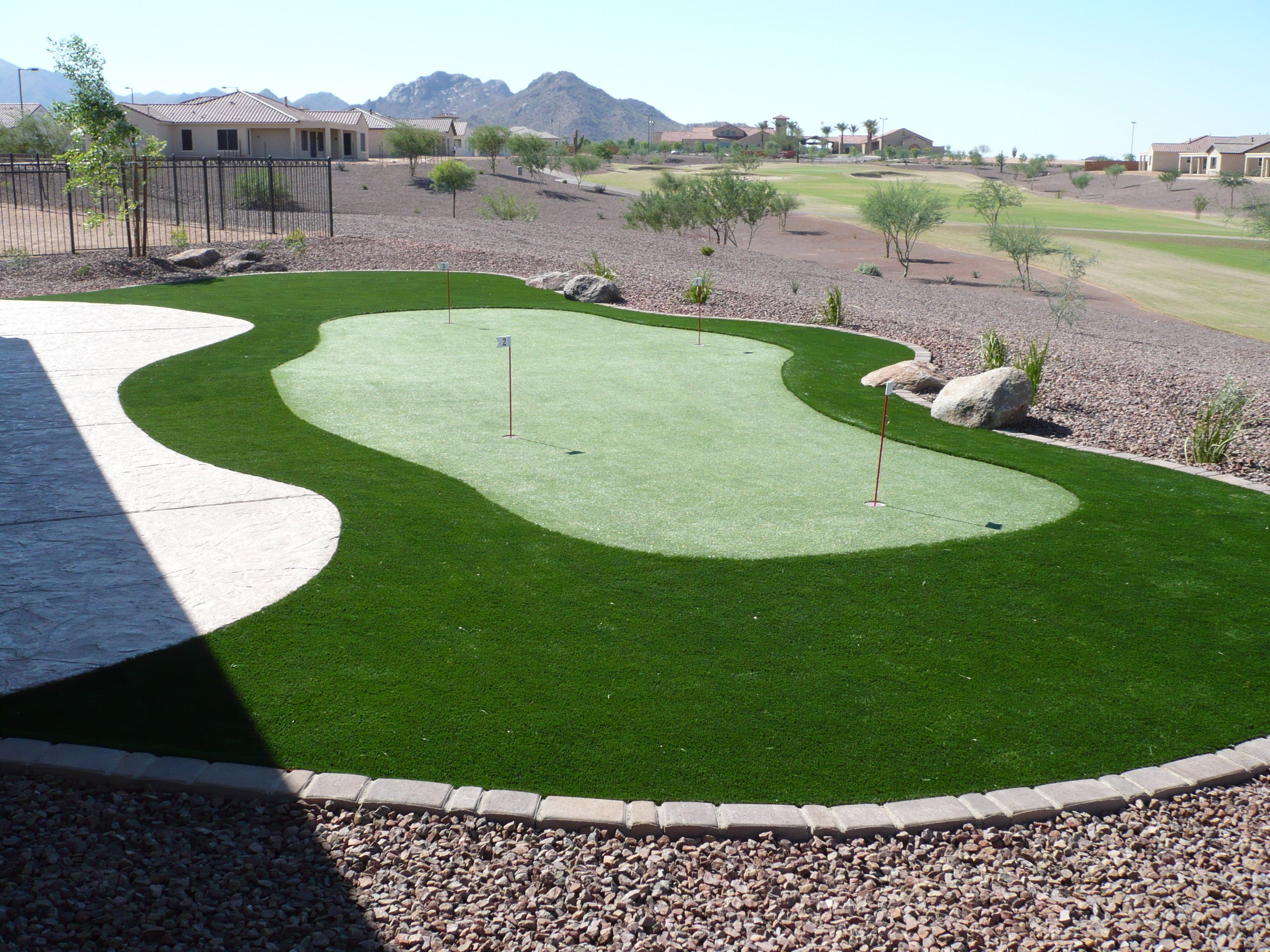 Putting area installed professionally by arizona turf masters
