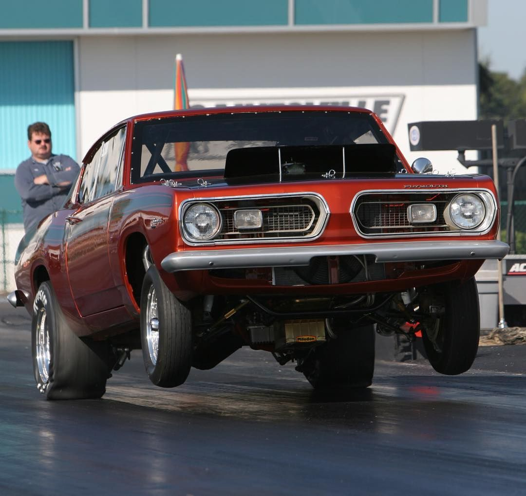 '67 Barracuda Pulling The Front Wheels! #Mopar #Wheelie