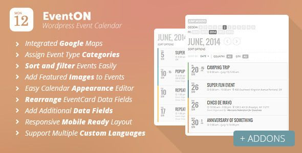 Eventon V  Wordpress Event Calendar Plugin  Wordpress