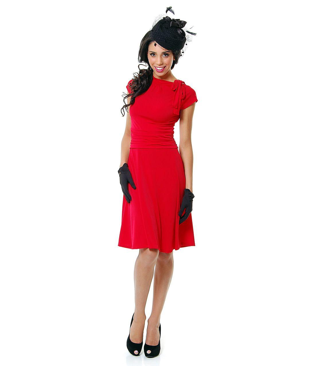 Red bridget bombshell pinup dress want to wear pinterest