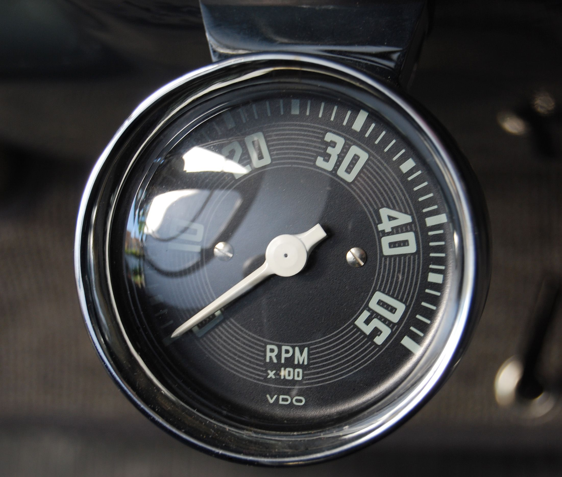 Vdo Outboard Tach Picturesque Engine Synchronizer Gauge Wiring Diagram Extremely Rare Accessory Tachometer Mounted 2202x1872