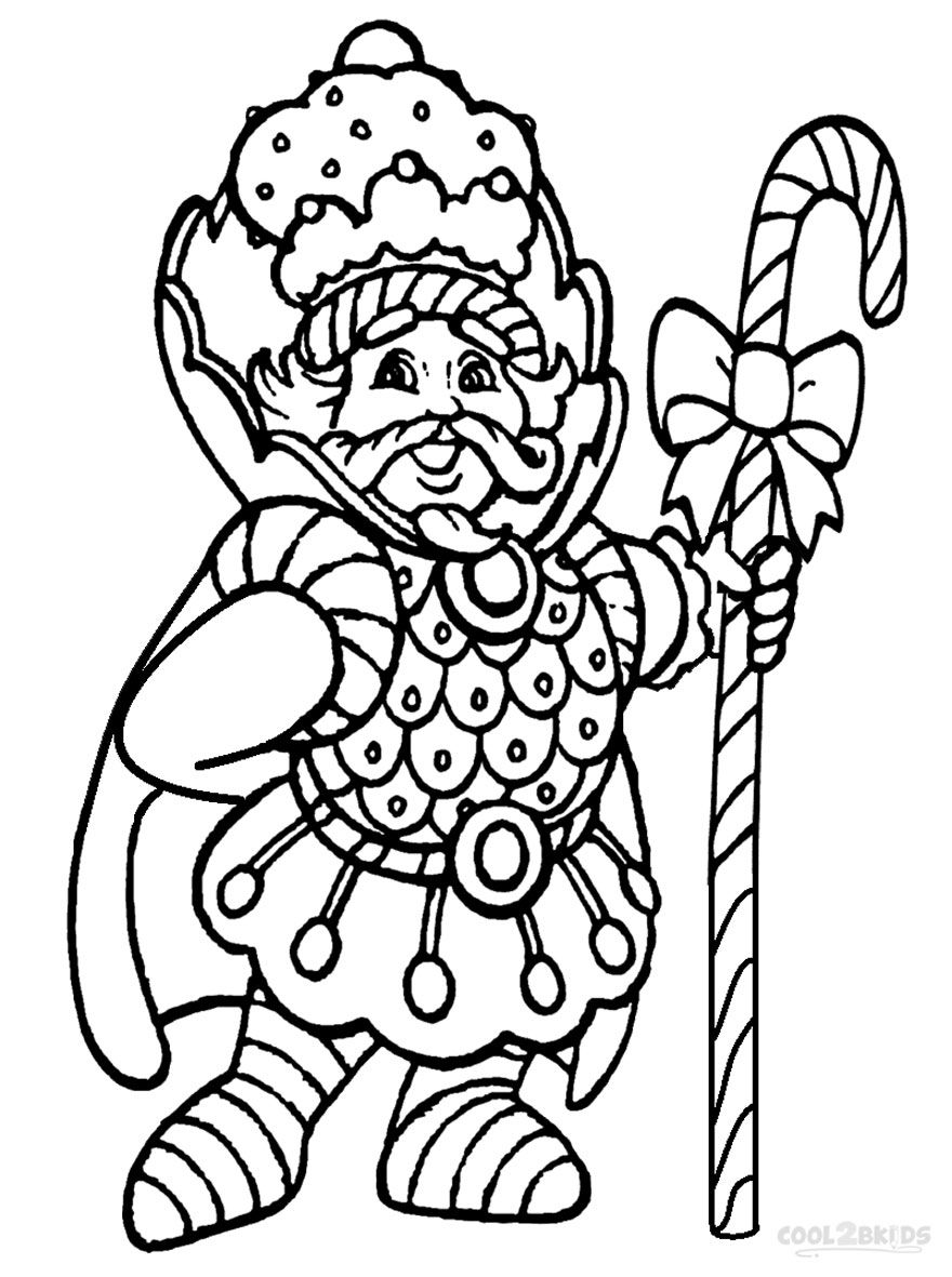 Coloring pages candy - Candy Theme Printable Candyland Coloring Pages