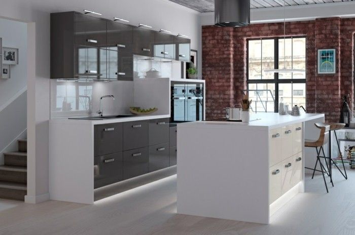 """résultat de recherche d'images pour """"cuisine gris et blanc"""