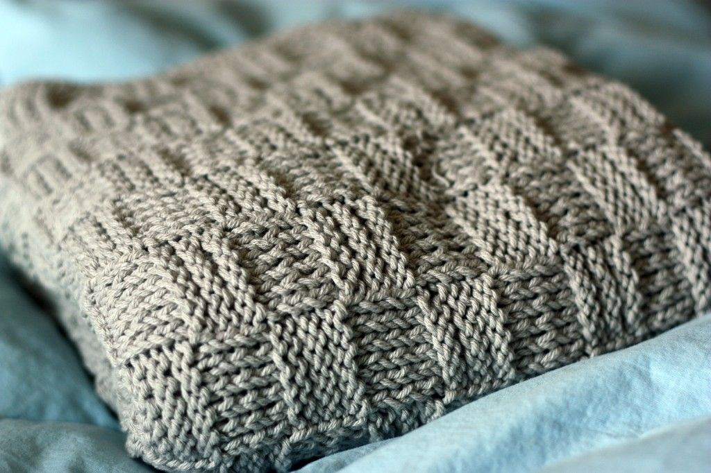 Basketweave Blanket | Blanket, Knitting blanket patterns and Knitted ...