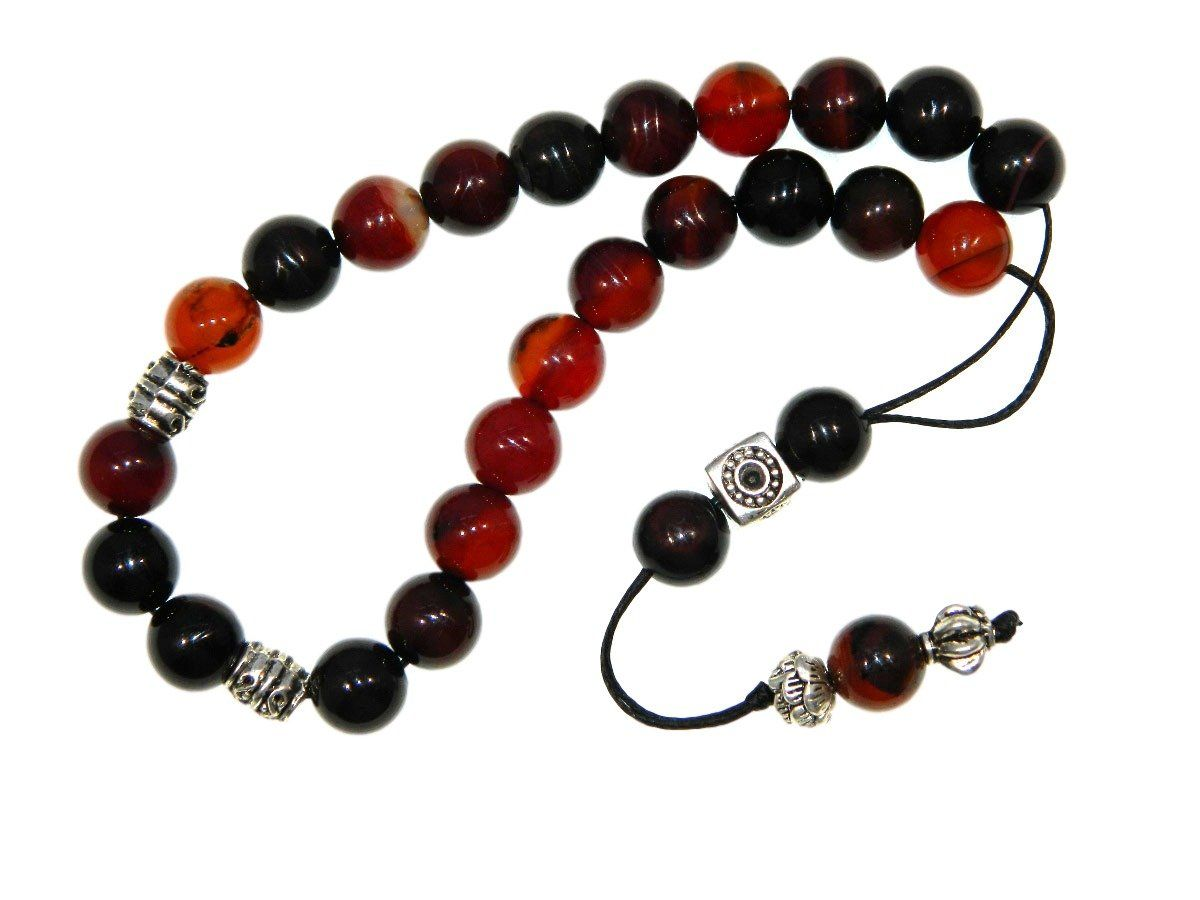 E1-0288 - Beautiful Loose String Greek Komboloi Prayer Beads Fidget Beads 10mm Natural Agate -- Awesome products selected by Anna Churchill