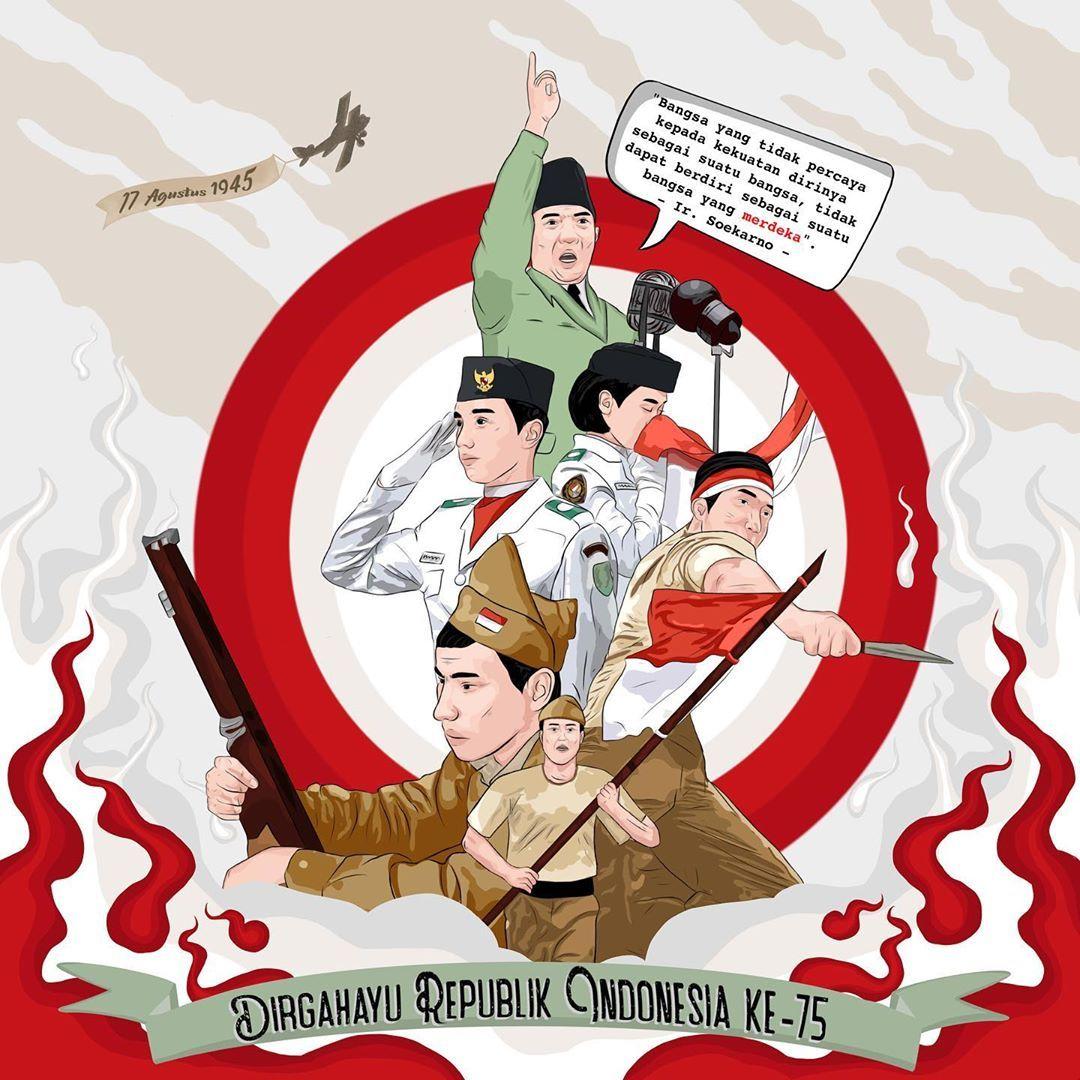 Gambar Kartun Tentang Hari Pahlawan