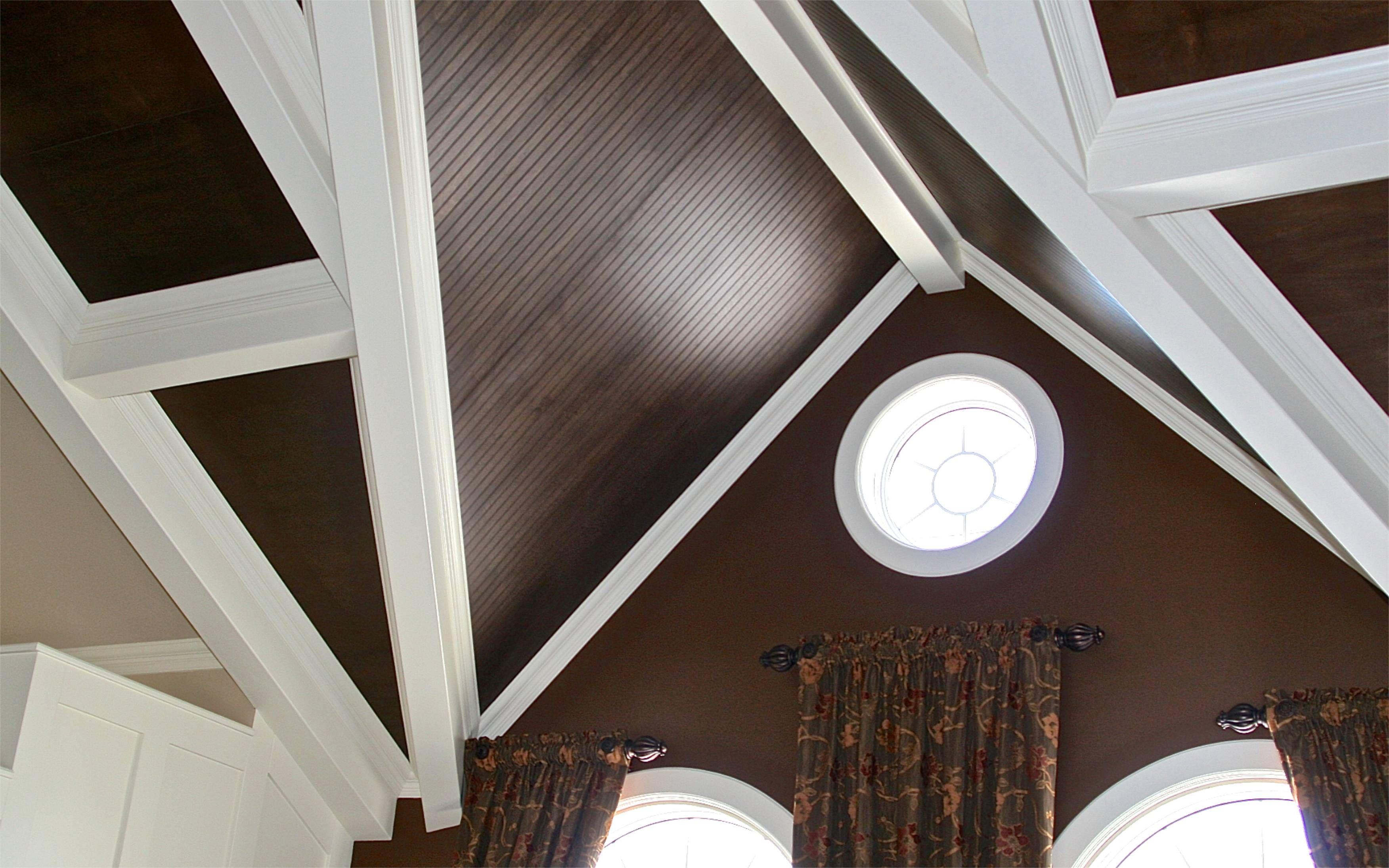 ébénisterie Architecturale Poutres En Mdf Peint Plafond