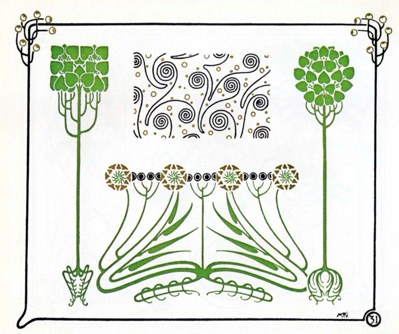 jugendstil ornamente floral 1910 jugendstil pinterest. Black Bedroom Furniture Sets. Home Design Ideas