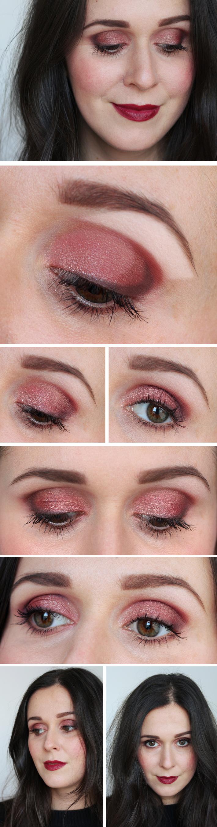Tutorial Dark Red Smokey Eye Beauty Makeup Pinterest Red