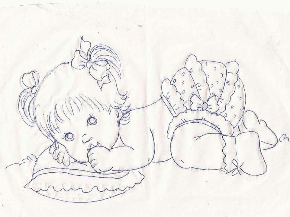Márcia Sueli | Embroidery children | Bebe para pintar, Pintura en ...