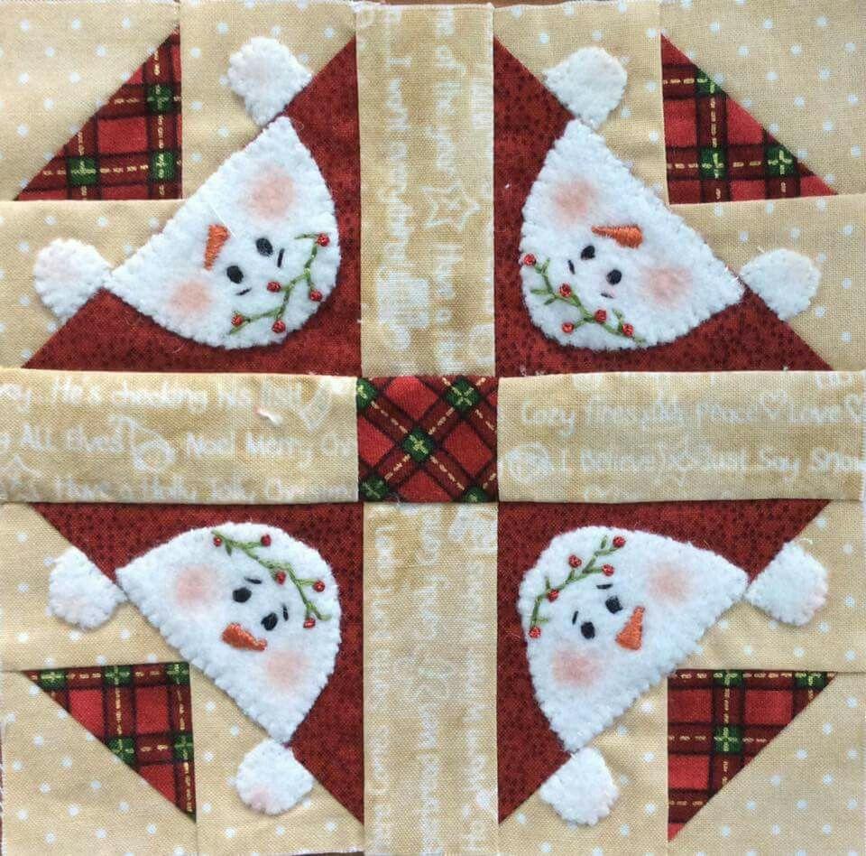 snowman quilt square | Quilt projects | Pinterest | Snowman ... : christmas quilt projects small - Adamdwight.com