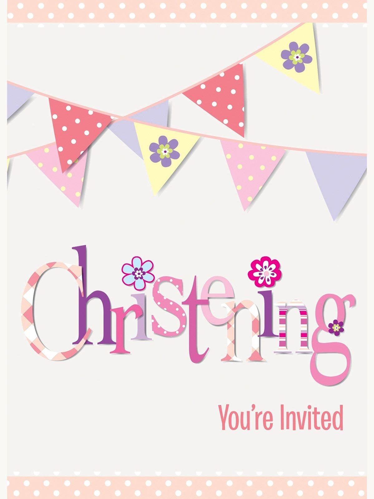 pink christening invitations envelopes 8pk tfpchristening