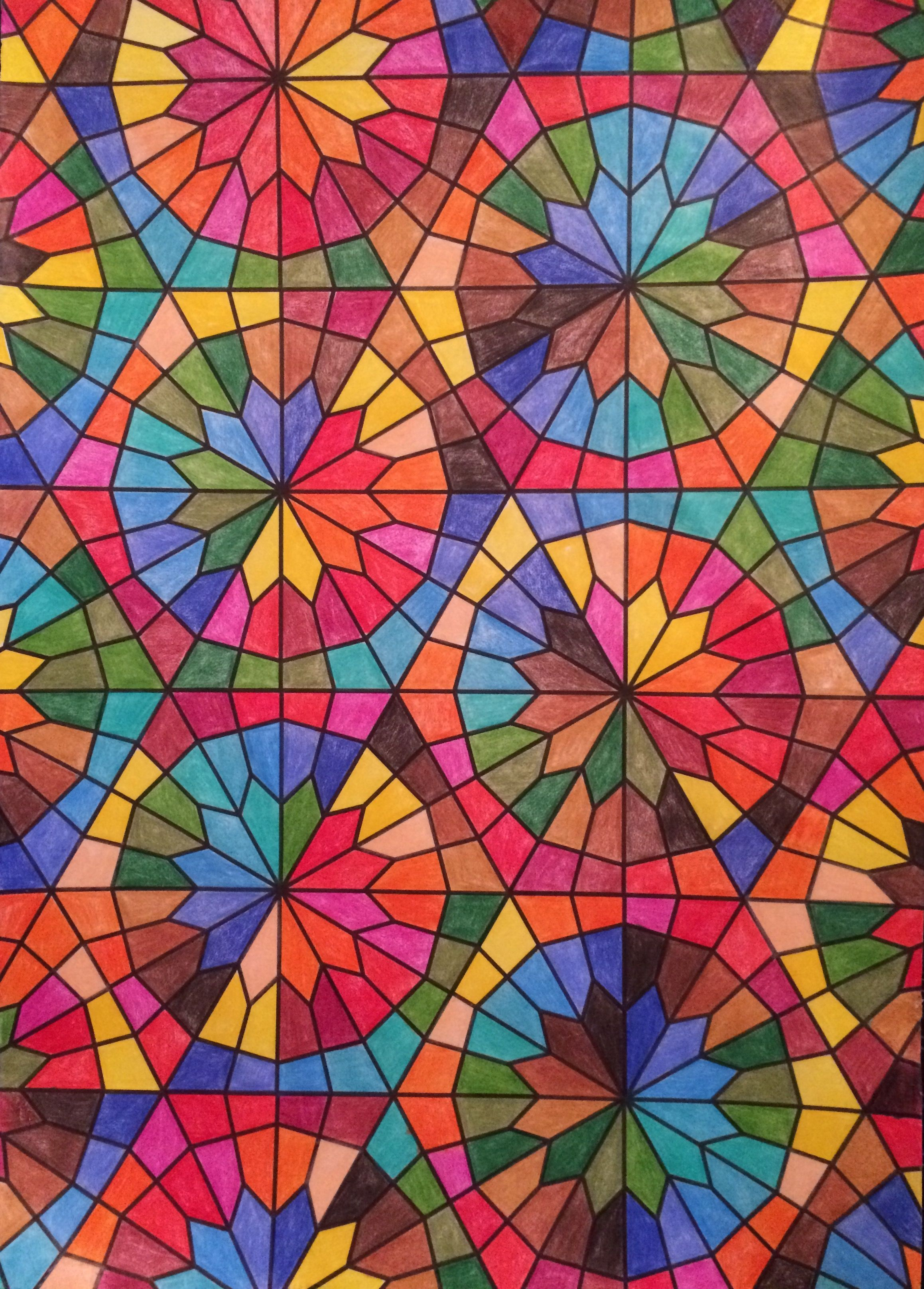 Note 8 art therapy islamic art coloring pages pages to color