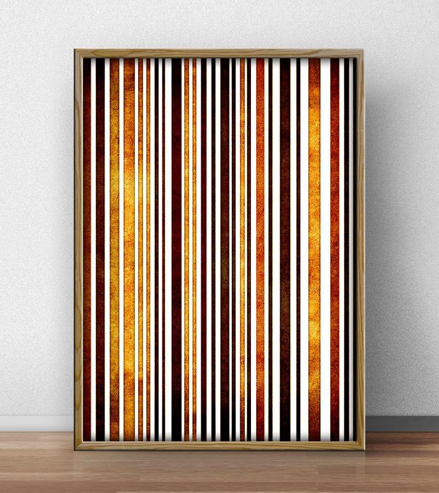 Quadro abstrato, linhas verticais em tons de marrom