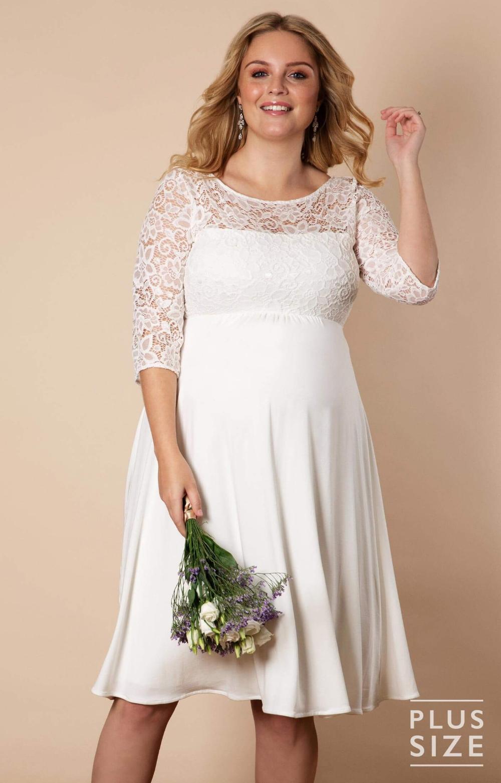 Brautkleid Lucia kurz in plus size Elfenbein / Weiß