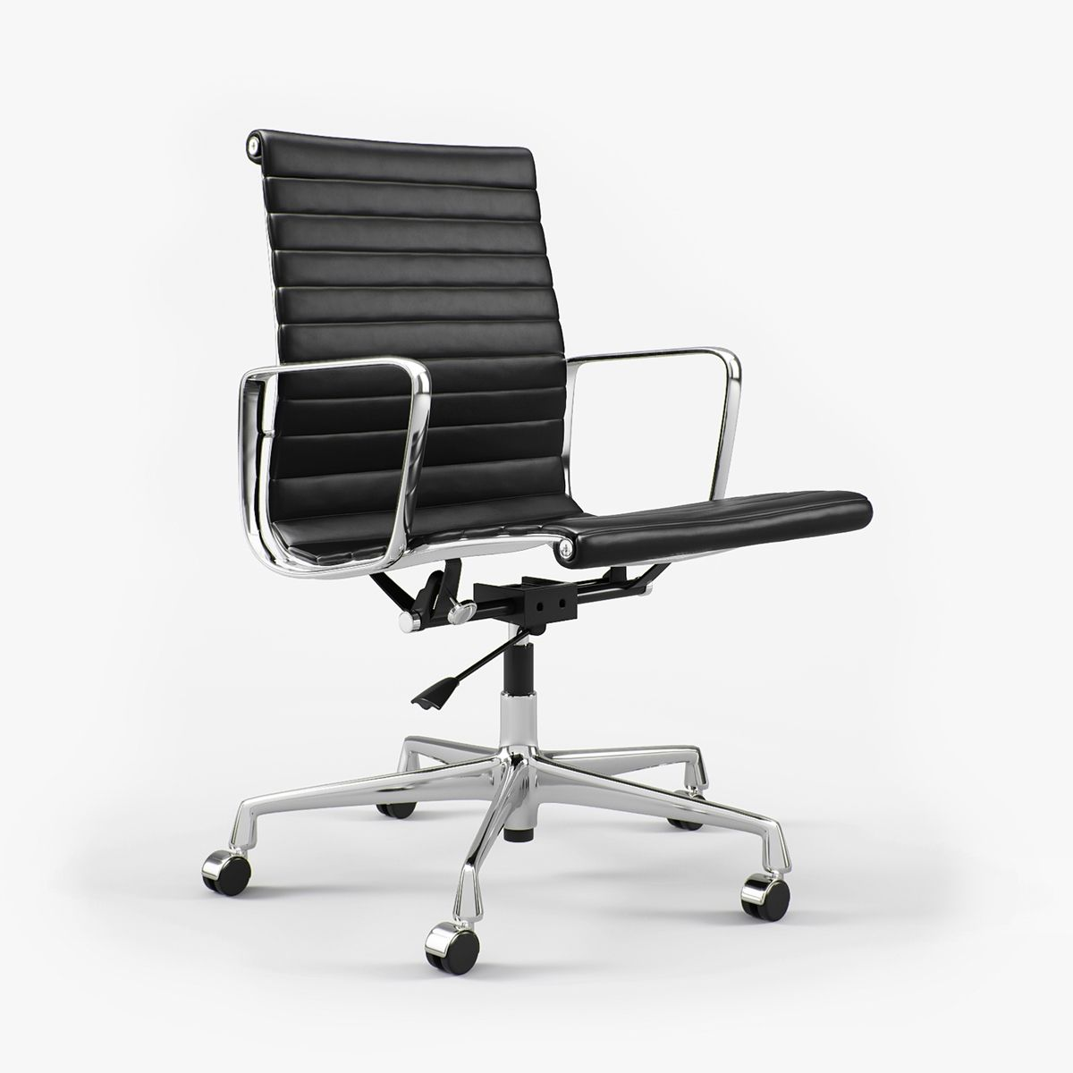 Vitra Ergonomic Chair Windsor Back Chairs For Sale Charles Ray Eames Aluminium Ea 117 I 3d