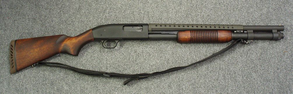 Mossberg 590A1 with wood furniture  Classic look meets modern tech