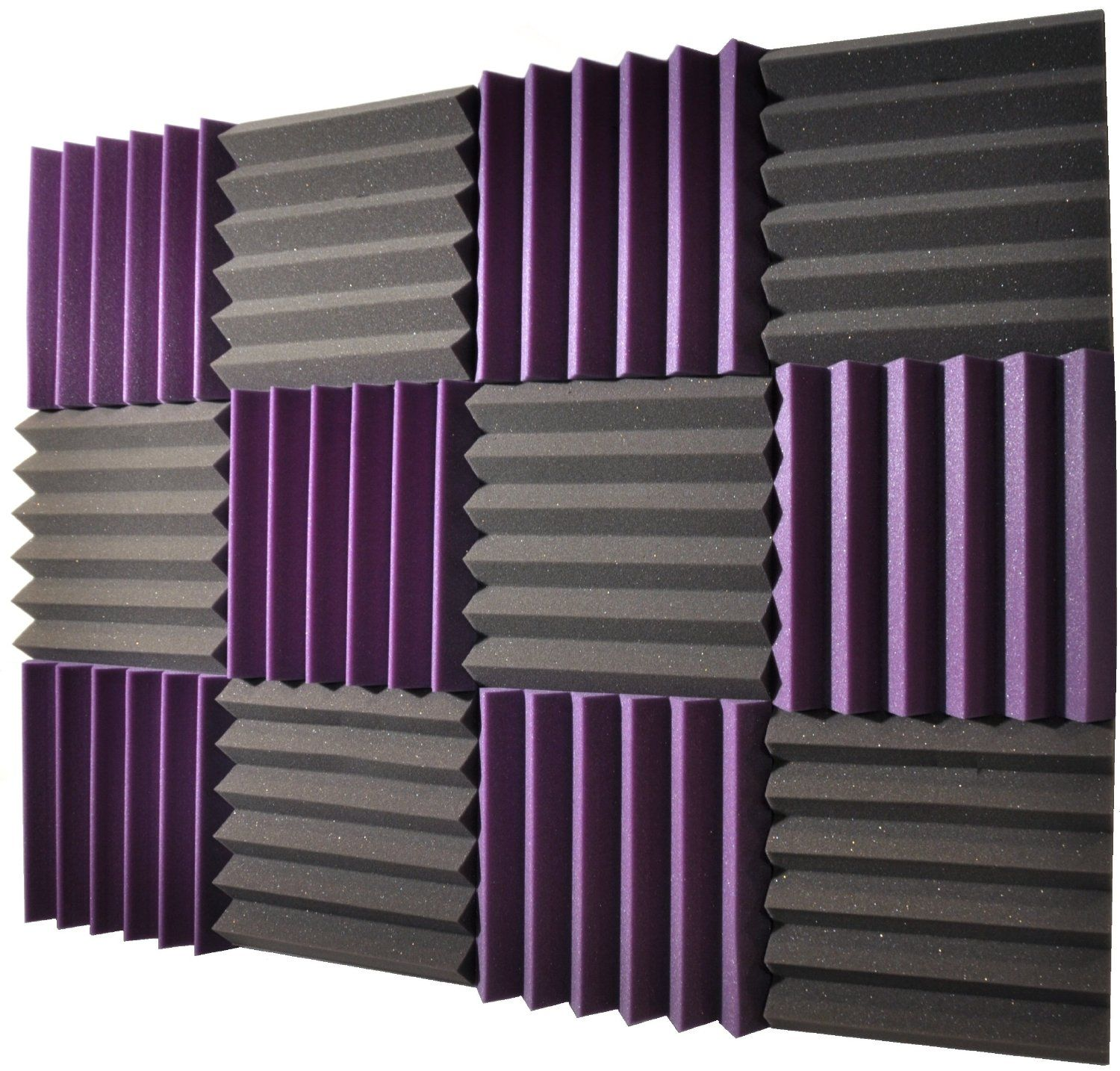 Pack Royal Purple Charcoal Acoustic Wedge Soundproofing Studio Foam Tiles Soundproof Offers Specially Made To Withstand Elements Like