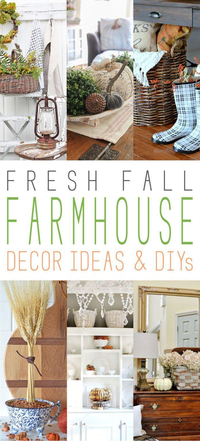 Diy Crafts Ideas : Fresh Fall Farmhouse Decor Ideas and DIYs on ...