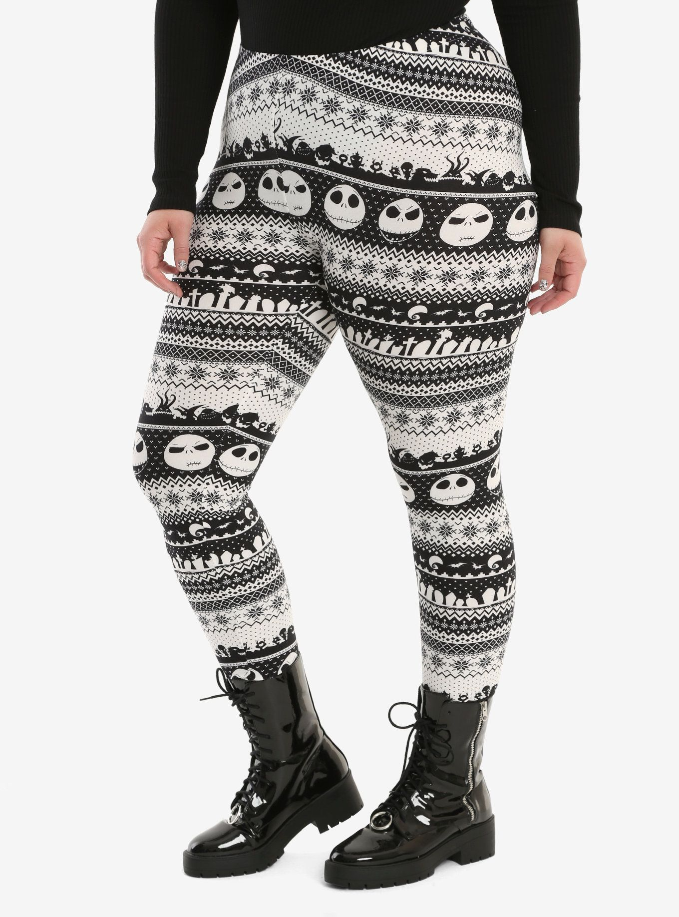 halloween town and christmas town collide on these leggings from the nightmare before christmas they - Nightmare Before Christmas Leggings