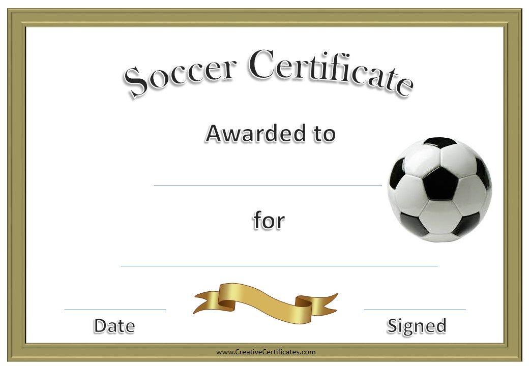 soccer certificates soccer certificate soccer Pinterest - best of printable soccer certificate