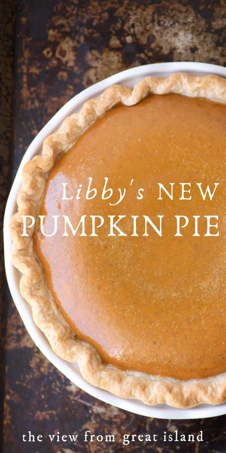 Libby's NEW Pumpkin Pie Recipe!