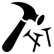 Hammer And Nail Icon Google Search Symbols Letters Bible Study