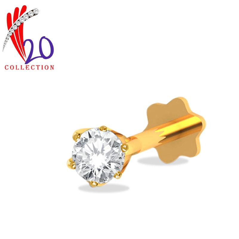 D Nosepin 1 Stone 6c Diamonds And Gold Diamond Jewelry