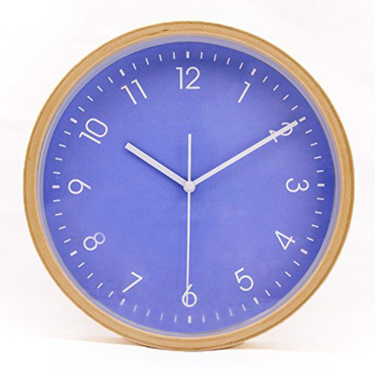 Hippih Silent Wall Clock Wood 8 Inches Non Ticking Digital Quiet Sweep Decorative Vintage Wooden Clocks Purple S Wood Wall Clock Clock Wall Clock