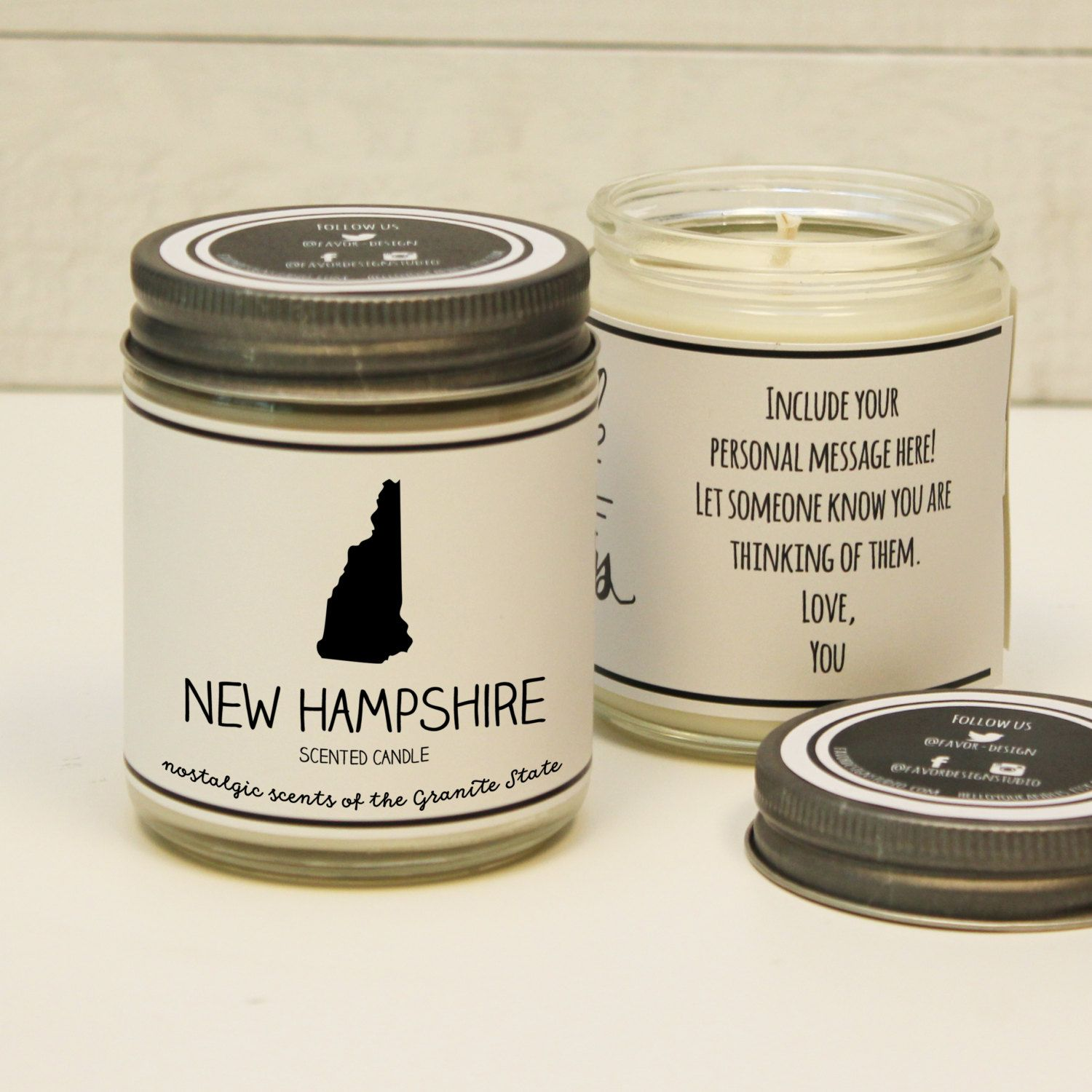 New Hampshire Scented Candle Homesick Gift Feeling Etsy Homesick Gifts Moving Gifts Homesick