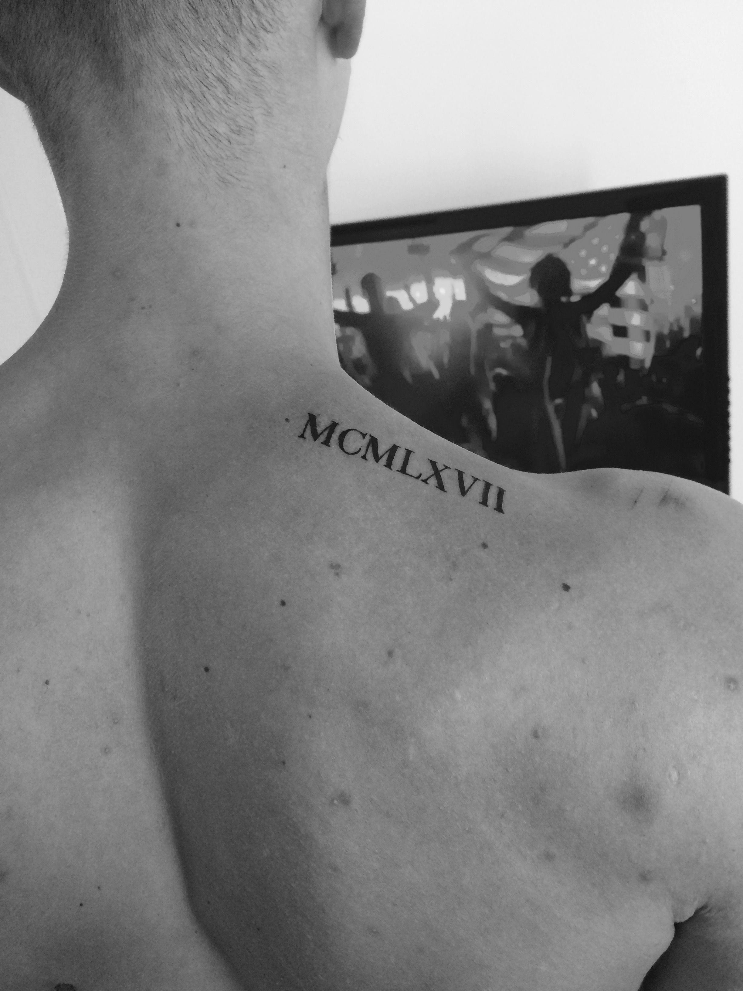 Roman Numerals Tattoo Tattoosformen Roman Numeral Tattoos
