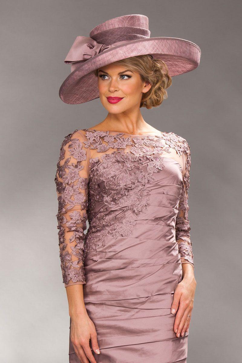Short ruched dress with applique detail 1498 | Cida | Pinterest ...