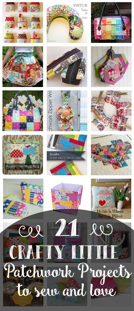 21 Crafty Little Patchwork Projects to Love! All Free — SewCanShe | Free Daily Sewing Tutorials