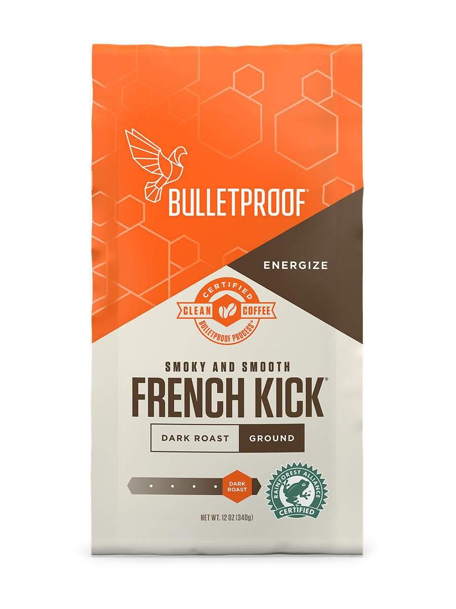 French Kick Dark Roast Ground 12oz Rusticcoffeetable Coffee Grounds Upgraded Coffee Decaf Coffee