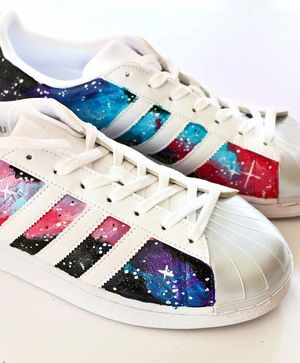 edcd3c4f894 Galaxy Tennis Shoes | Altered Shoes | Shoes, Adidas sneakers, Kids ...