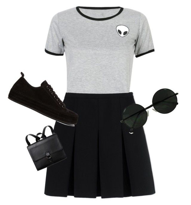 """""""Senza titolo #3"""" by sofiacontii on Polyvore featuring moda, Alexander Wang, Ann Demeulemeester, WithChic e Monki"""