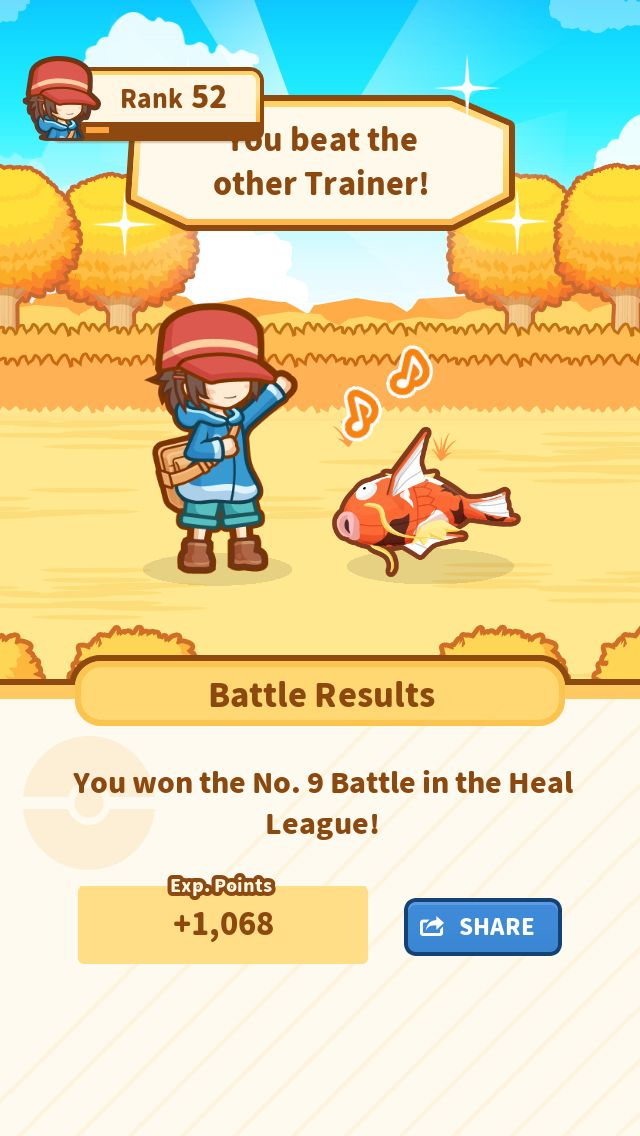 Take that! My precious Patches jumped 127.05 m and won! #Magikarp http://koiking.jp/r/