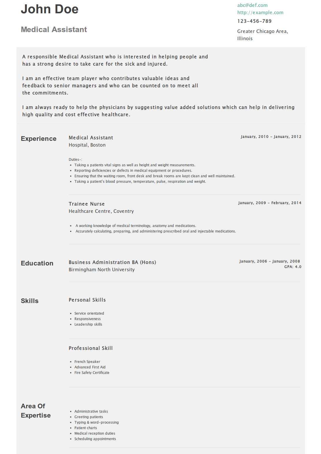 Medical Assistant Resume HttpsHipcvComAbcRMedicalAssistant