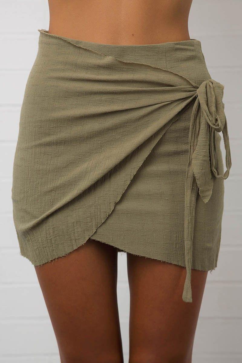52d756b6e26f24 KENDRICK SKIRT - Khaki | Coats | Boho skirts, Short skirts, Skirts