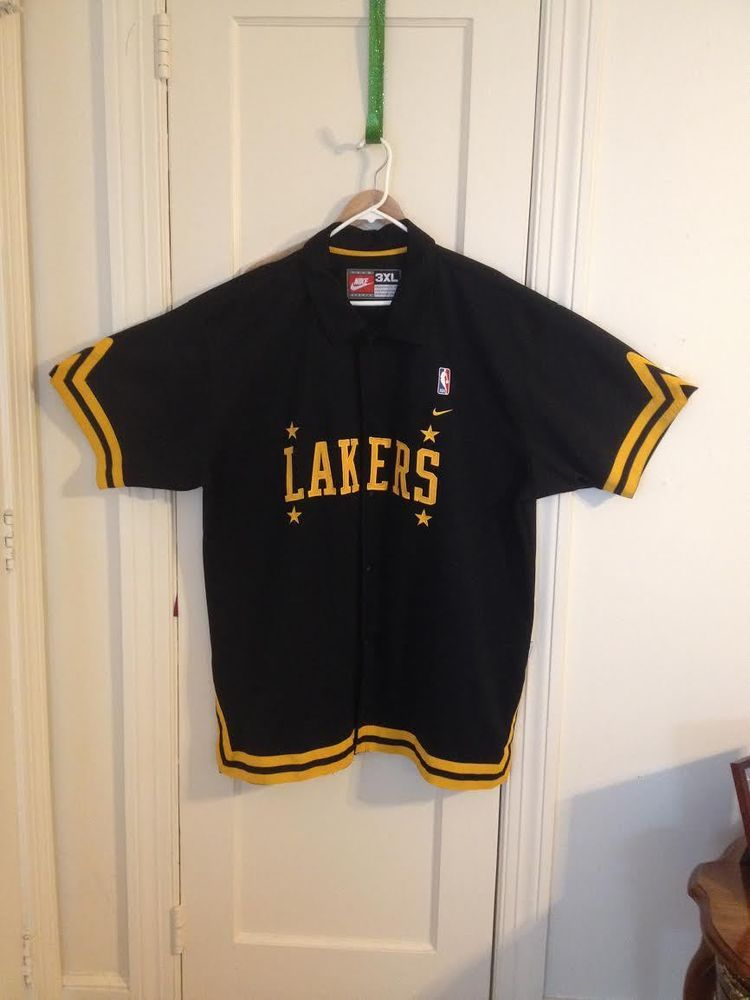 Nike Rewind Nba La Lakers Warm Up Jacket Jersey Size 3xl La Lakers Lakers Jackets