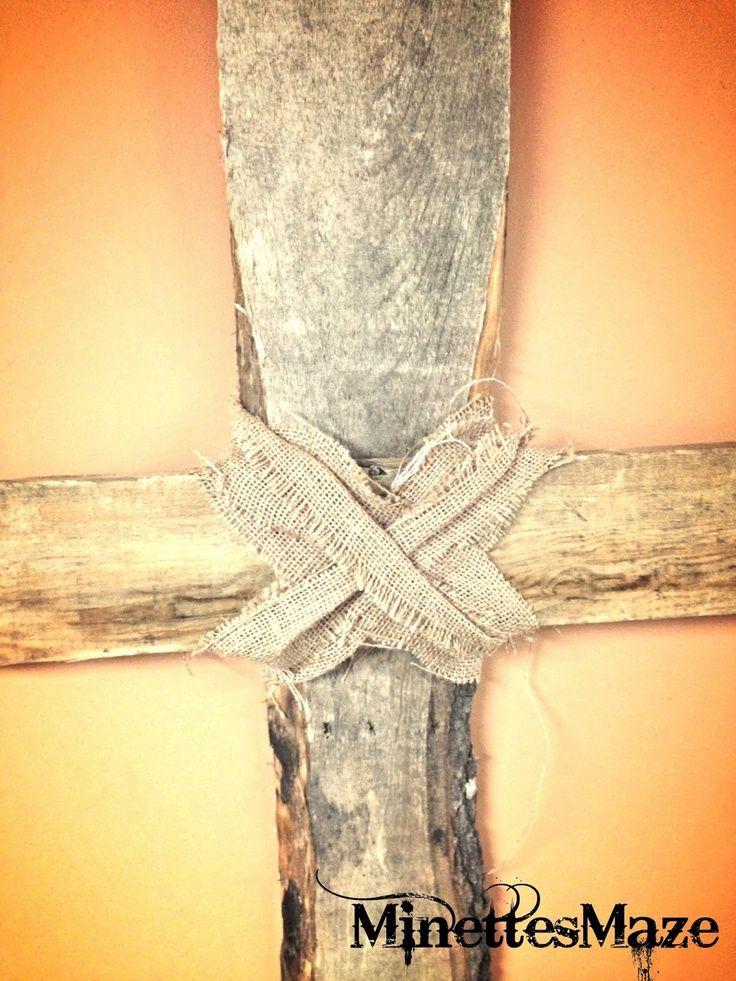 DIY Simple cross out of Pallet wood! | Reuse old screen door ...