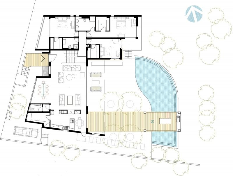 Funnel House By Lambrianou Koutsolambros Architects Architect Villa Plan House Floor Plans