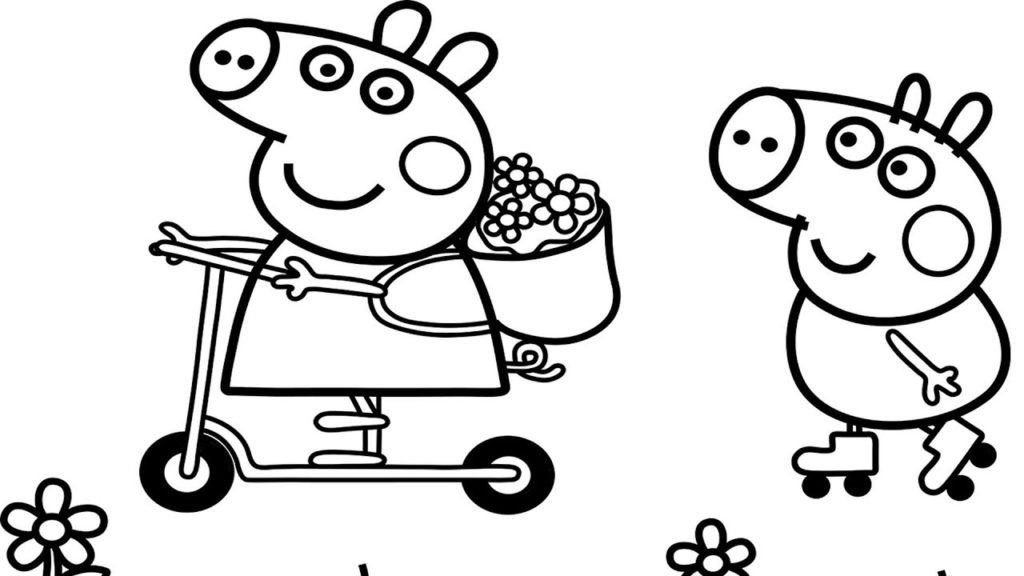 Coloring Rocks Peppa Pig Colouring Peppa Pig Coloring Pages Cartoon Coloring Pages