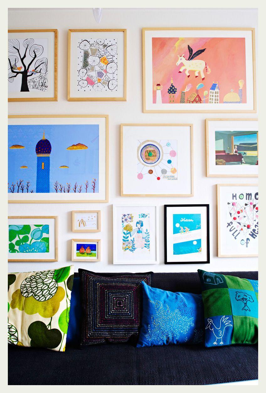 Art + cushions