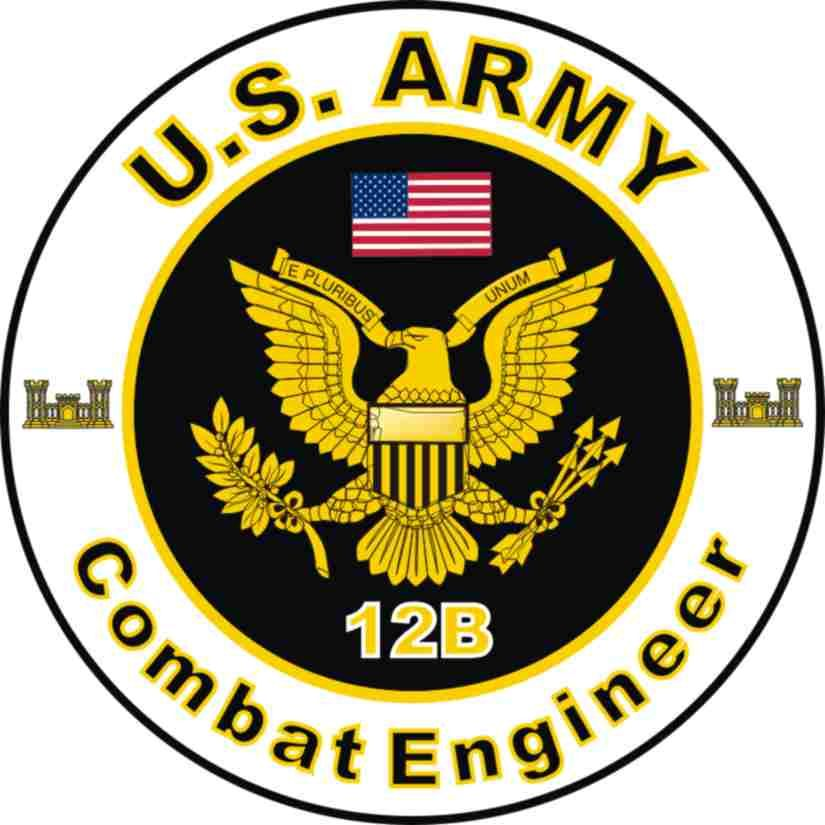 Us Army Mos 12b Combat Engineer Decal Military Pinterest Army