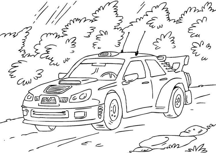 Dibujos Para Colorear De Coches De Rally Coche De Rally Dibujos