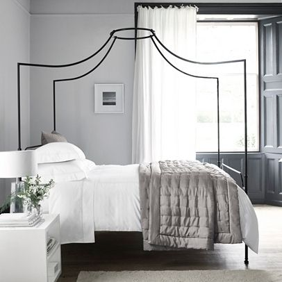 Beaumont Four Poster Bed Beds The White Company White Metal