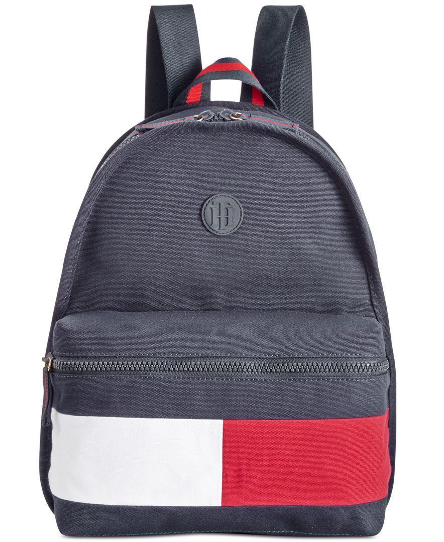 563de352576d3 Tommy Hilfiger Colorblock Canvas Basic Backpack